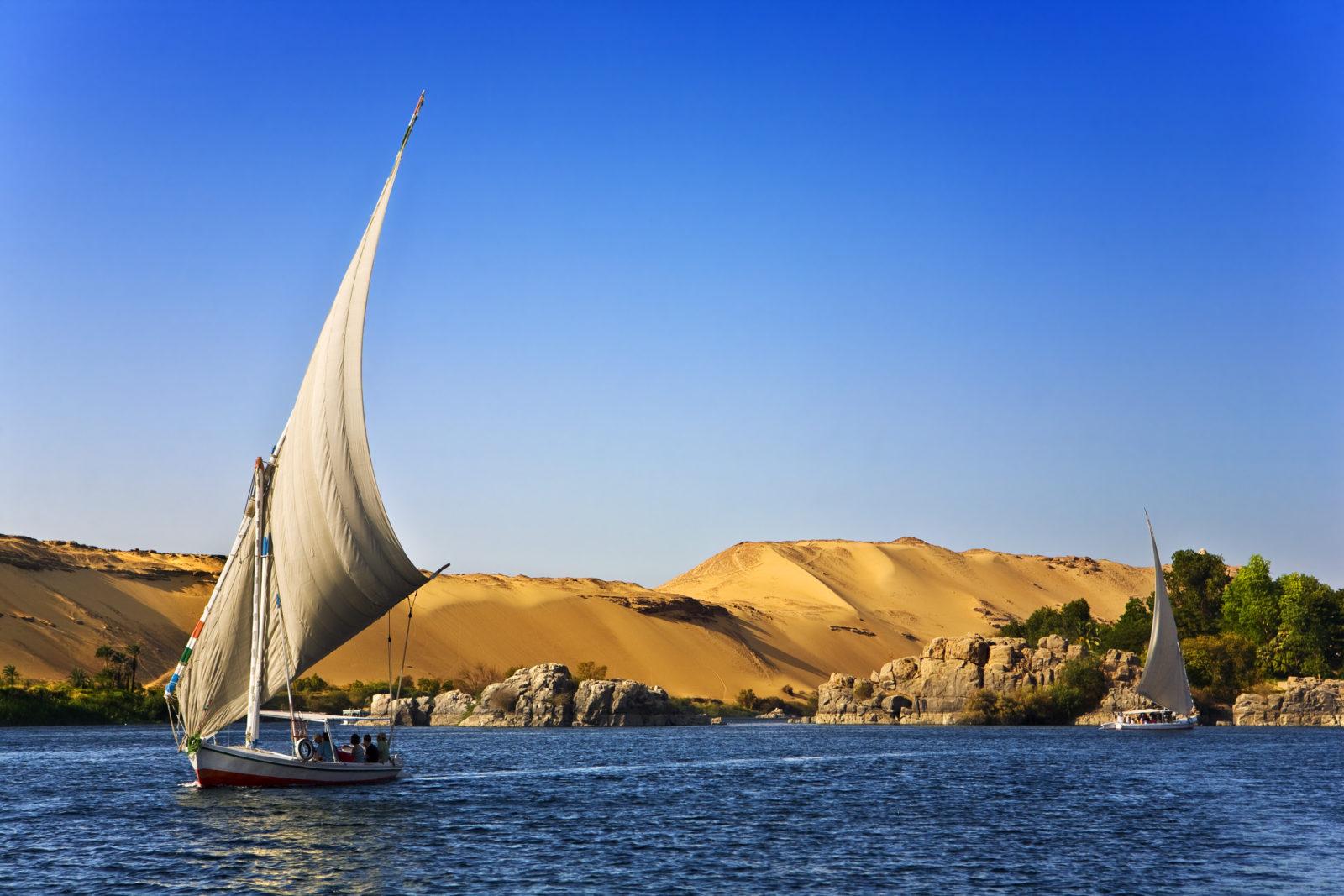Nil, plavba, člun